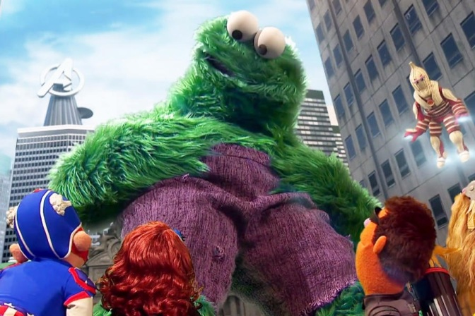 Sesame Street does…The Avengers