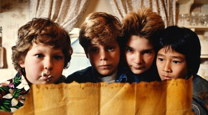 The Goonies headed on stage?