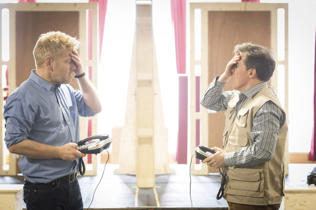 Branagh and Brydon rehearse The Painkiller