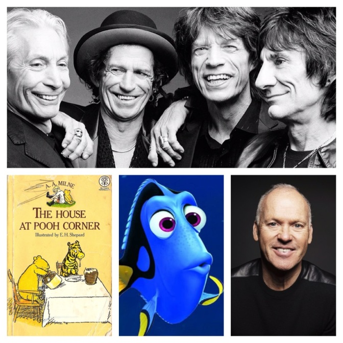 Marvel movies, The Rolling Stones, AA Milne and more