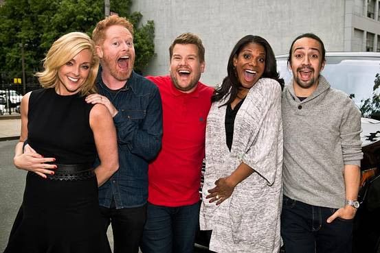 Carpool Karaoke does Broadway