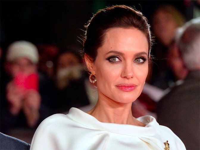 Is Angelina taking a trip on the Orient Express?
