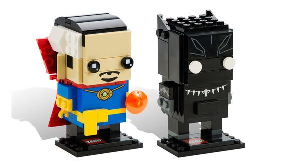 Iron Man, Wonder Woman, Doctor Strange are Lego BrickHeadz