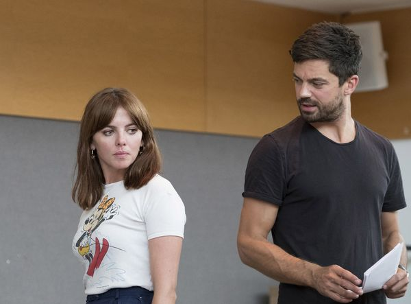 Dominic Cooper rehearses The Libertine
