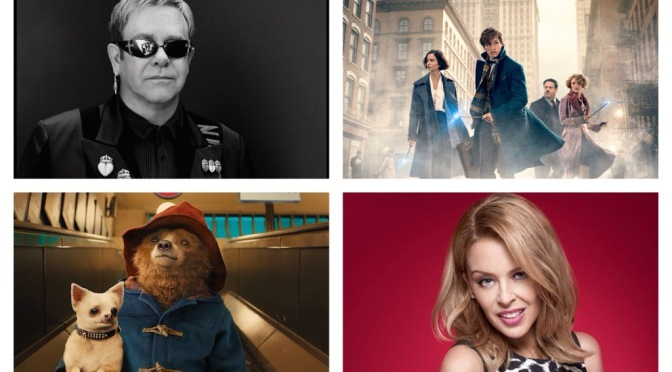 That's A Wrap: Kylie Minogue, Fantastic Beasts, Paddington 2