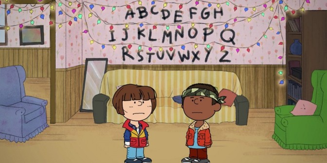 Good grief! Peanuts meets Stranger Things