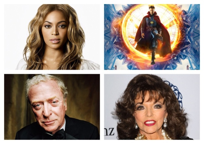 That's A Wrap: Beyonce at the BFI, Joan Collins, Doctor Strange and more