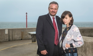 ITV BROADCHURCH SERIES 3 Pictured : CHARLIE HIGSON as Ian and HANNAH MILLWARD as Leah. This photograph is (C) ITV Plc and can only be reproduced for editorial purposes directly in connection with the programme or event mentioned above. Once made available by ITV plc Picture Desk, this photograph can be reproduced once only up until the transmission [TX] date and no reproduction fee will be charged. Any subsequent usage may incur a fee. This photograph must not be manipulated [excluding basic cropping] in a manner which alters the visual appearance of the person photographed deemed detrimental or inappropriate by ITV plc Picture Desk. This photograph must not be syndicated to any other company, publication or website, or permanently archived, without the express written permission of ITV Plc Picture Desk. Full Terms and conditions are available on the website www.itvpictures.com For further information please contact: Patrick.smith@itv.com 0207 1573044