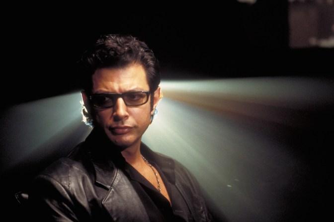 Jeff Goldblum heads to Jurassic World, celebrates by selling sausages