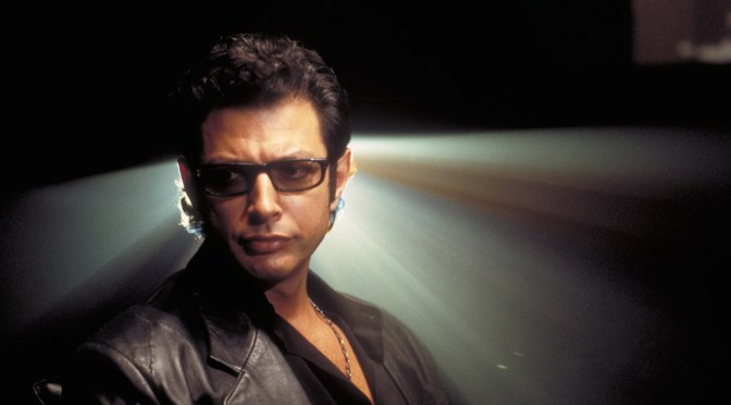 Jeff Goldblum heads to Jurassic World, celebrates by selling sausages