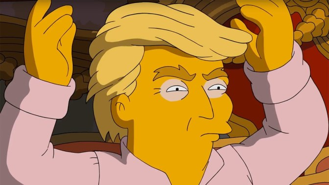 The Simpsons 'celebrate' Trump's first 100 days