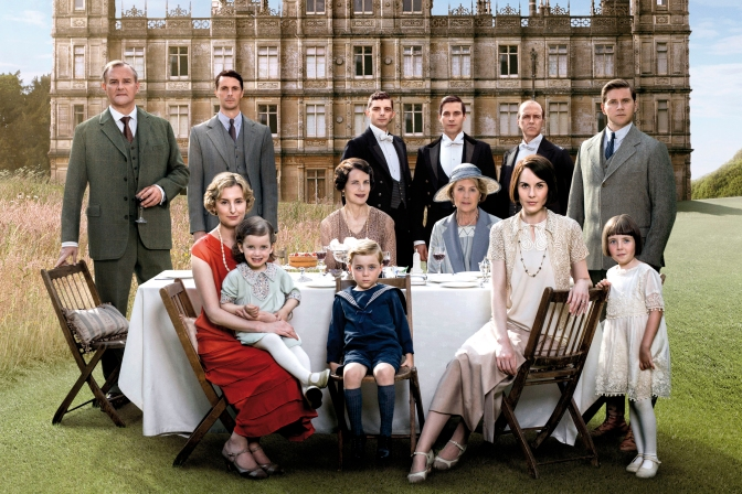 Julian Fellowes has begun writing the Downton Abbey movie