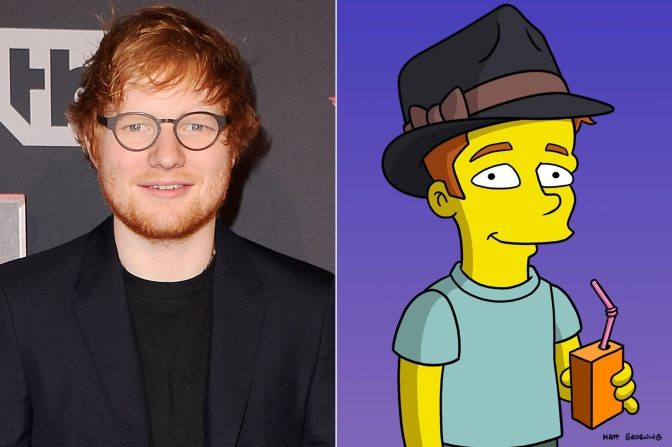 First look: Ed Sheeran joins The Simpsons