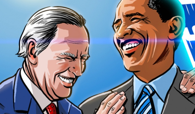 Obama and Biden go time-travelling