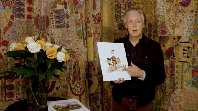 Paul McCartney says Hey Grandude!