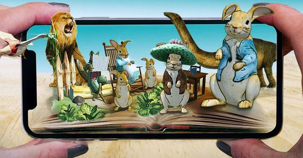 Peter Rabbit brought to life in augmented reality app