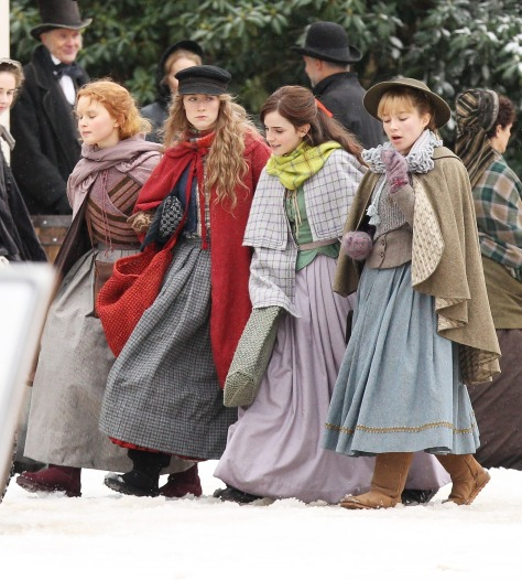 "*EXCLUSIVE* Emma Watson, Florence Pugh, Saoirse Ronan and Eliza Scanlen get into character for ""Little Women"""