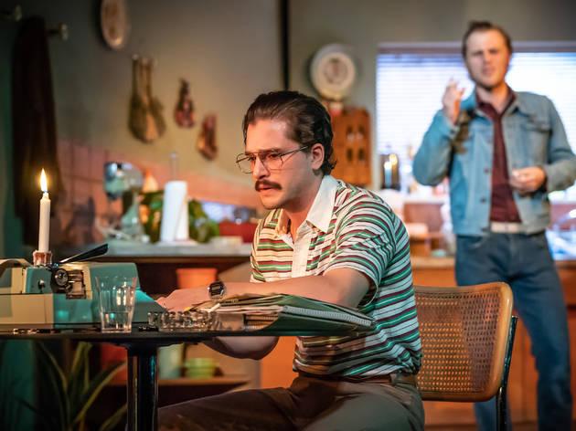 Kit Harington, Johnny Flynn recording True West for Audible