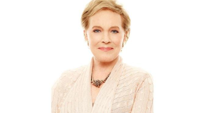Julie Andrews is writing her 'home work'