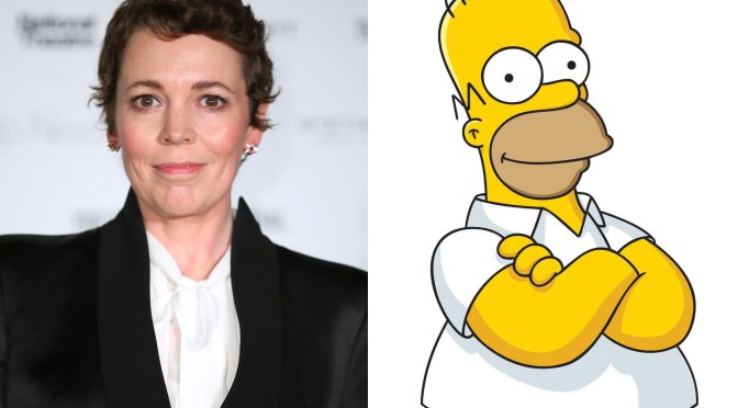 Olivia Colman wants to capture Homer Simpson's heart