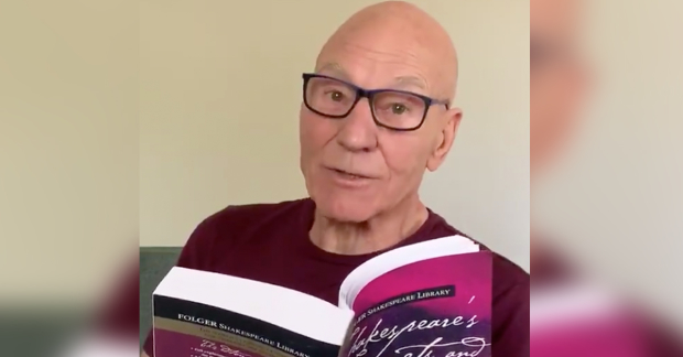 Patrick Stewart reads a Shakespeare sonnet a day