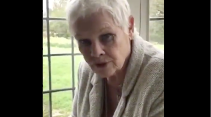 Watch: Judi Dench, British stage stars recite Shakespeare